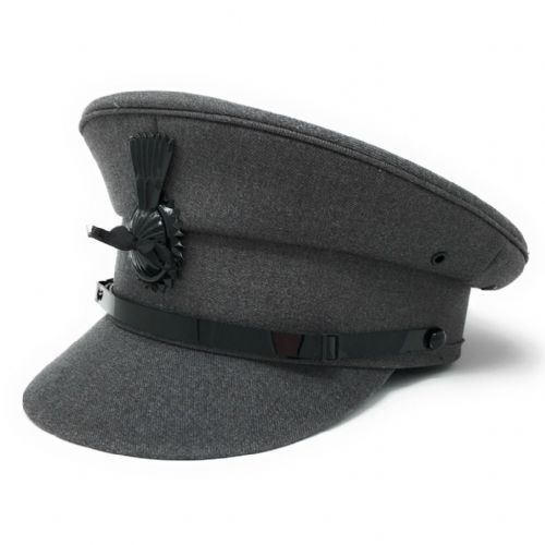Chauffeurs Hat - Light Grey - Driving Cap